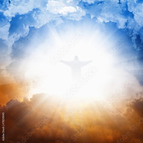 Naklejka Jesus Christ in heaven