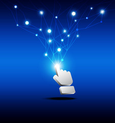 hand cursor click network button