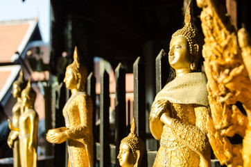 Golden Buddha in the sunset - Thailandia