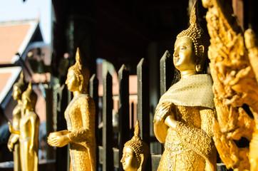 Golden Buddha in the sunset - Thailandia