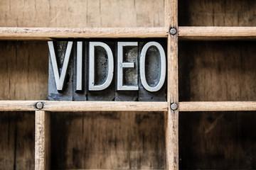 Video Letterpress Type in Drawer