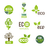 Fototapety Green Eco Icons