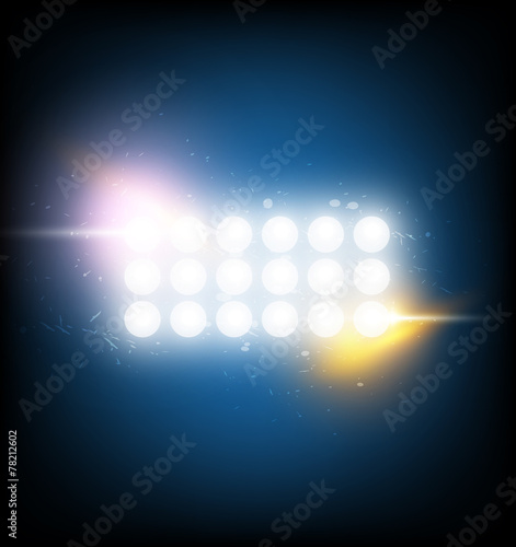 Fotobehang Licht, schaduw spotlight with optical flare