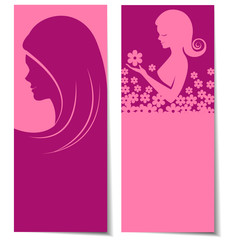 Abstract beautiful women card