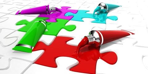 Puzzle Paint Tube