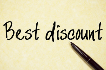 best discount text write on paper