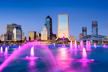 Jacksonville, Florida, USA Skyline at Friendship Fountain