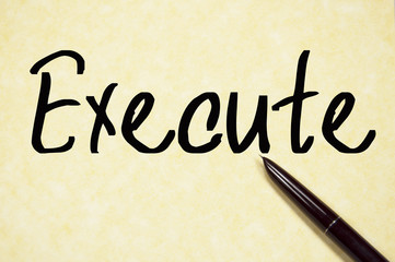 execute word write on paper