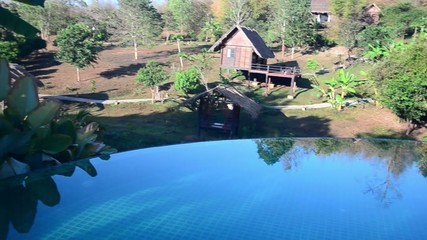 Ecolodge with swimming pool in Northern Thailand