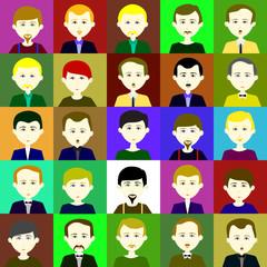 25 men. Raster. 2 1 1