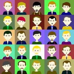 25 men. Raster. 1 2 3