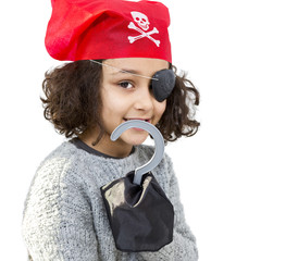 Pirate little girl