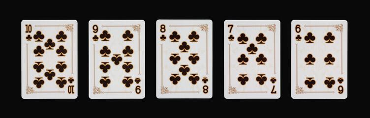 Spielkarten - Poker - Kreuz  im Spiel