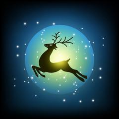 reindeer on the sky