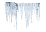 icicles on whitte with clipping path