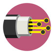 Optic cable icon. Vector illustration - 78214837