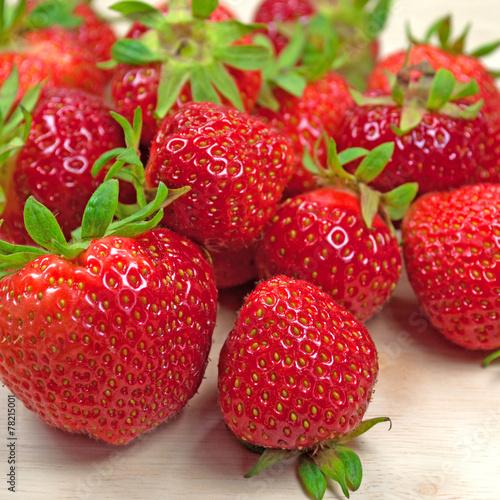 canvas print picture Erdbeeren