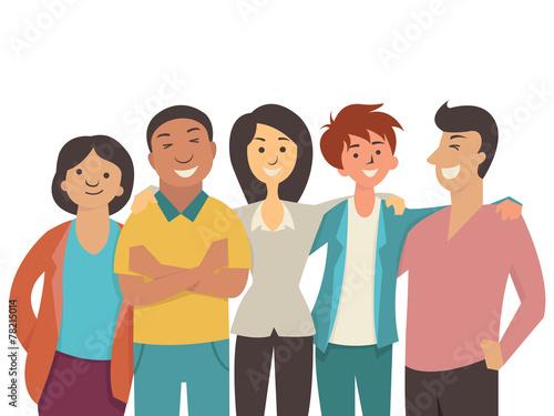 Diverse happy people - 78215014
