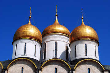 Assumption Cathedral golden domes, Moscow Kremlin