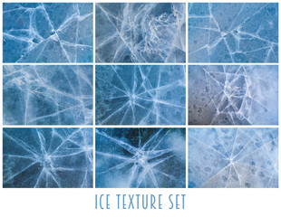 Set of nine ice textures