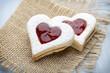 canvas print picture - Cookies heart shape.