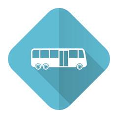 bus flat icon public transport sign