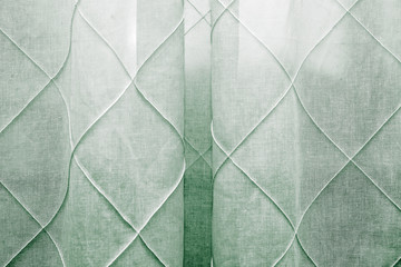 pattern with a green bedroom curtain