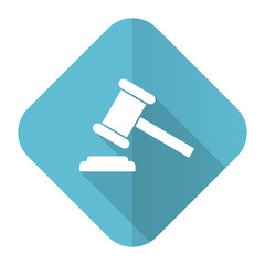 auction flat icon court sign verdict symbol