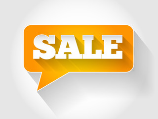 SALE Message bubble, business concept
