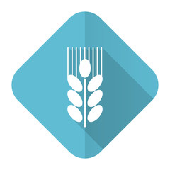 grain flat icon agriculture sign