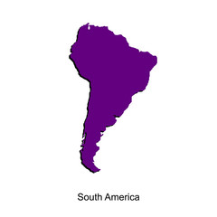 Map of south america  for your design