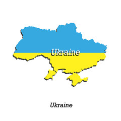 Map of Ukraine  for your design