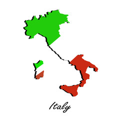 Map of Italy  for your design