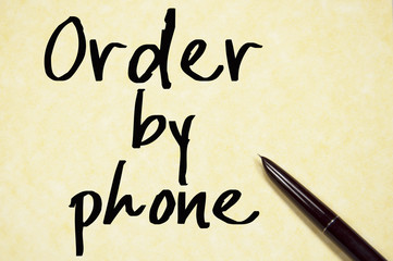 order by phone text write on paper