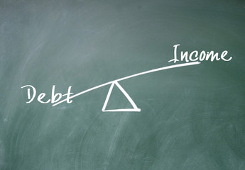 Income and debt concept