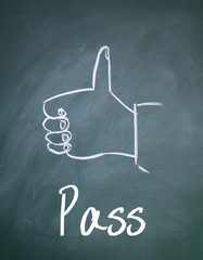 pass sign on paper