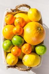 citrus fruits in basket