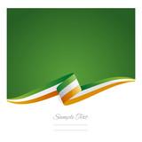 New abstract Ireland flag ribbon