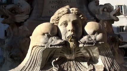 Fontana del Pantheon at Piazza della Rotonda. Rome