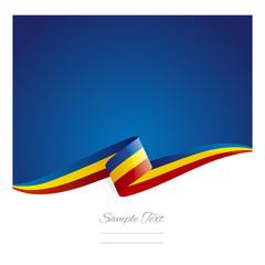 New abstract Romania flag ribbon
