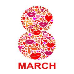 Открытка к женскому празднику, 8 марта