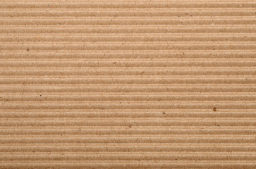 Horizontal  background of corrugated cardboard