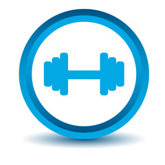 Blue dumbbell icon