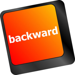 backward word on computer keyboard key button