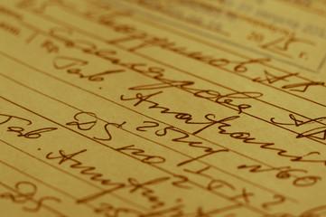 Handwritten medical prescription