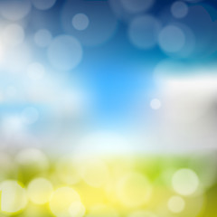 Blurry background with bokeh effect. Abstract vector