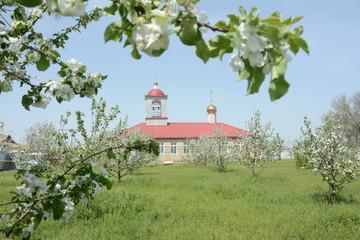 Храм в яблоневом соду