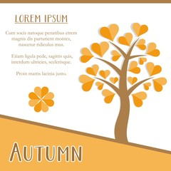 Autumn season card