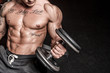 Bodybuilder is having work out