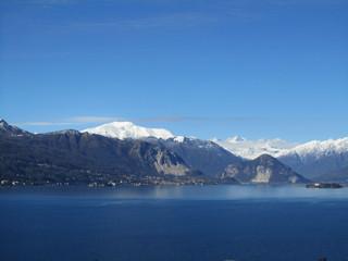 Winter - Panorama des Lago Maggiore - Italien